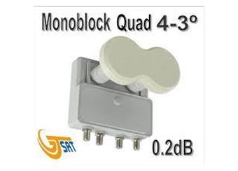 LNB GT-MDQ43 Monoblock QUAD 4.3° 0,2db pro 4 účastníky akční cena 895,-Kč