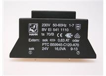 HAHN BV EI 541 1110 -do tištěných spojů 230/1X24V 16,0VA