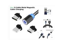 Magnet. kabel USB 3v1 360° Lighting, Micro, Type-C, 1m