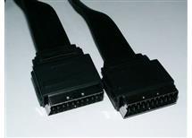 SCART kabel plochý, 21 pin  1,5m   ! !  akční cena