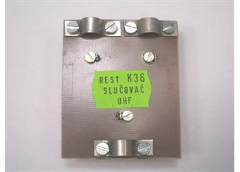 Slučovač UHF s přisloučením kan. 36 UHF