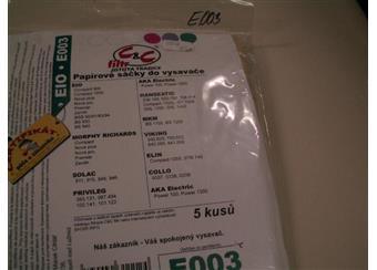 Papírové sáčky do vysavače EIO E003