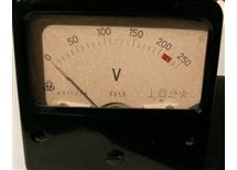 měř 0-250V AC 70x70mm Metra s odděleným předřadníkem