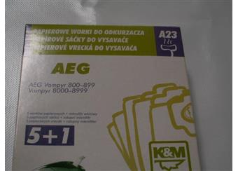 Papírové sáčky do vysavačů AEG A23