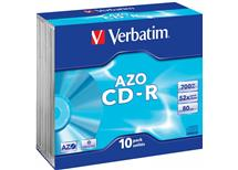 CD-R Verbatim AZO 700MB 52x slim, Balení 10 ks cena 95 kč