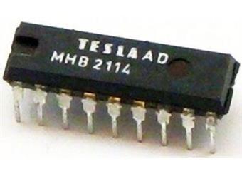 MHB2114 Statická paměť RAM 4096 bitů; DIP18; THT