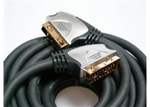 SCART kabel 10 m, 21 pin zlacené konektory-profi kabel