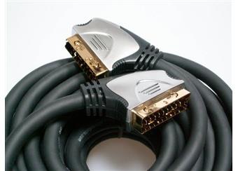 SCART kabel 10 m, 21 pin