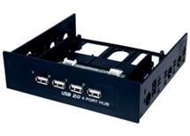 Rozbočovač 4xUSB 2.0, rozhraní 480 Mbit/s, černý