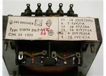 síťové trafo 230V 16V 1A viz další odbočky oddělené vinutí typ 9WN86191 Dubnica