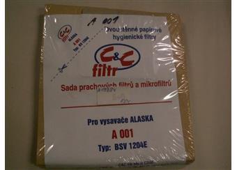 Sada prachových filtrů a mikrofiltrů pro vysavače ALASKA BSV 1204E A001