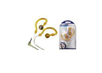 Voděodolná sluchátka HQ-HP106IE - barva žlutá  cenová akce