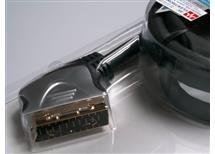 SCART kabel 1,5 m, 21 pin pozlacené kontakty,akční cena ,zapoj. všechny piny- HQSS1003/1,5