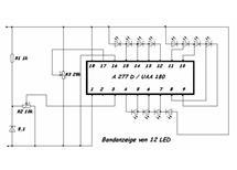 UAA180 /A277d kontrolér LED  led drive i pod TA7666P /KA2281/ 2x5 LED
