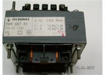 trafo 230V 2x15,5V 2x1,3A  9WN66781  odděl vinutí, rozměr 33x75x63mm precizní provedení