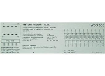 WDD005 vstupné registr-paměť  hermetiky uzavřený obvod