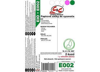 Papírové sáčky do vysavače EIO E002