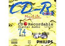 CD-R Philips 74min Megalife, Balení 10 ks cena 130 kč