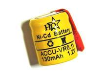 Baterie accu 1,2V 130mAh Ni-Cd