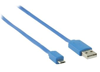 USB kabel 1m modrý