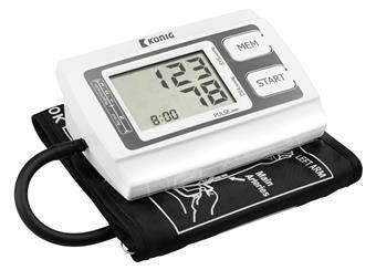 měřič krevního tlaku a pulzu König, s pamětí, podsvětlený displej, pažní, spolehlivý produkt