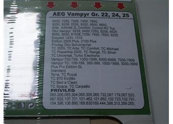 Papírové sáčky do vysavačů AEG A PRIVILEG A24