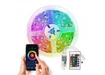 .LED světelný pás Wifi Smart, RGB, 5M, sada s adapt. a dálk. ovladačem