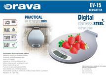 Digitální kuchyňská váha Orava, nerez