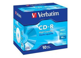 CD-R Verbatim 800MB High Capacity, Balení 10 ks cena 84 kč