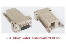 Kabel křížený RS232 - RJ45 20m