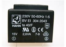 HAHN BV EI 304 2043 -do tištěných spojů 230/1x15V 2,6VA