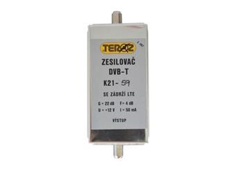ant zesil DVB-tl.21-59K s filtrem LTE 40 dB  Novinka, nízké šumové číslo,velmi osvědčený  produkt