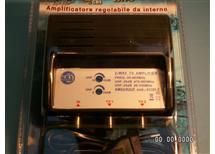 Anténní zesilovač pro RD nebo STA zásuvky - vnitřní provedení pro dvě TV AMS2, REGULACE ZISKU