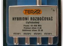 Ant. rozbočovač hybridní ČTYŘNÁSOBNÝ - č.106 ( IEC konektory)
