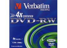 DVD-RW Verbatim 4,7GB 4x, Balení 10 ks cena 250 kč