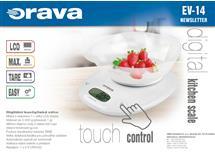 Digitální kuchyňská váha s miskou Orava, bílá